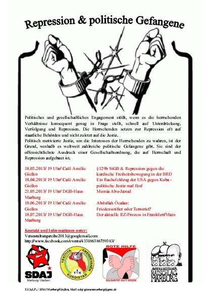 Flyer Veranstaltungsreihe